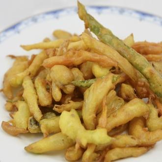 Verduras rebozadas fritas