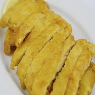 Pechuga de pollo rebozada